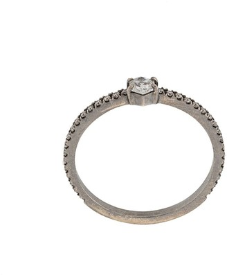 Eva Fehren 18kt white gold Nazca stacking ring