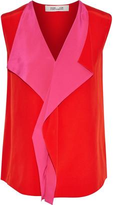 Diane von Furstenberg Ruffled Silk Crepe De Chine Top
