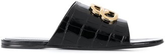 Balenciaga BB leather sandals