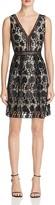 Aqua Faux Leather Floral Lace Dress - 100% Exclusive
