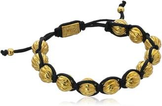 King Baby Studio Macrame with Brass Feather Bead Bracelet