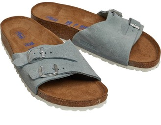 Birkenstock Womens Vaduz Vl Soft Bed Sandals Light Blue