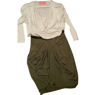 Betty Blue Green Silk Dress for Women