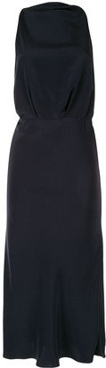 Cushnie Open Back Silk Midi Dress