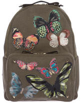 Valentino Canvas Camu Butterfly Backpack