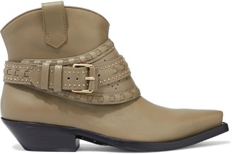 Zimmermann Embellished Perforated Ankle Boots