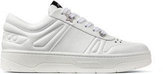 Jimmy Choo HAWAII/F White Calf Leather Lace Up Trainers