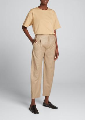 Totême Wool Flannel Cropped Trousers