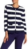 Anne Klein Striped Sweater Jacket