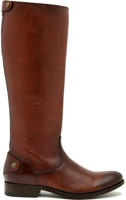 Frye Women's Casual boots COGNAC - Cognac Melissa Button Back-Zip Wide-Calf Leather Boot - Women