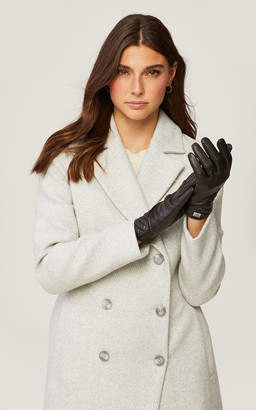 Soia & Kyo CLAUDEAN quilted leather gloves with tech-friendly tips
