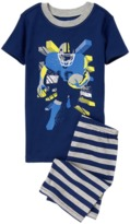 Crazy 8 Football 2-Piece Shortie Pajama Set