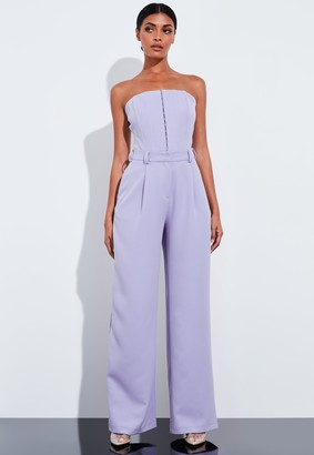 Missguided Lilac Super High Waisted Wide Leg Trousers