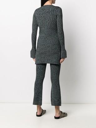 Theory ribbed-knit V-neck cardigan