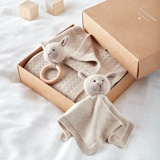 The White Company Sheep Organic Cotton Gift Set, Natural, One Size