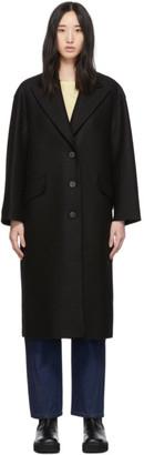 Harris Wharf London Black Pressed Wool Oversized Great Coat
