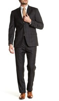 Tommy Hilfiger Charcoal Plaid Two Button Notch Lapel Standard Fit Wool Suit