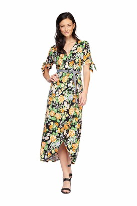 Dex Short Sleeve Wrap Dress with Belt