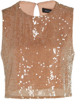 Sally LaPointe Sequined Crepe Top
