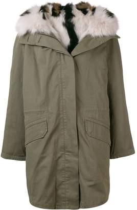 Yves Salomon Army oversized hooded coat