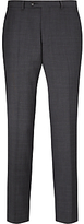John Lewis Super 100s Wool Glen Check Tailored Suit Trousers, Grey