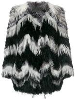Yves Salomon fox fur paneled coat