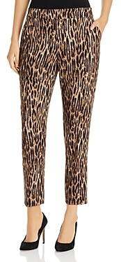 T Tahari Animal Print Cropped Pants