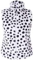 Noroze Girls Leopard Print Faux Fur Gilet Top Jacket 3-13 years