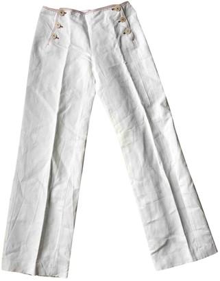 Loro Piana White Cloth Trousers
