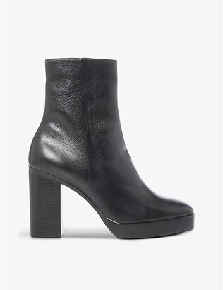 Dune Pella leather ankle boots