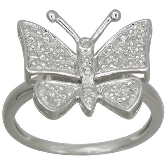 Kc Jewelry Sterling Silver 1/5ct TDW Diamond Butterfly Ring