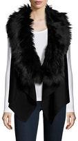 MICHAEL Michael Kors Faux Fur-Trimmed Flyaway Vest