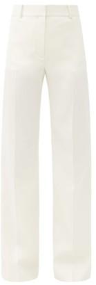 Bella Freud David Wool-twill Wide-leg Trousers - Ivory