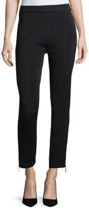 Misook Plus Size Knit Ankle-Zip Leggings