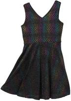Pippa Pastourelle By And Julie Sparkle Rainbow Dot V-Neck Dress (Big Girls)