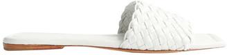 Tony Bianco Giselle White Sheep Nappa Flats