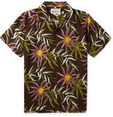 Wacko Maria Camp-Collar Printed Poplin Shirt