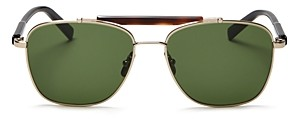 Salvatore Ferragamo Men's Brow Bar Aviator Sunglasses, 56mm