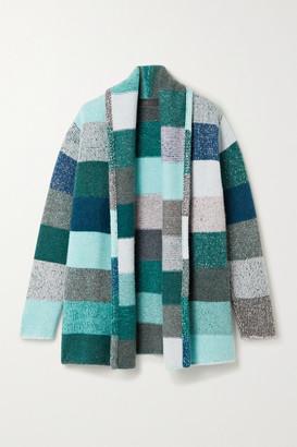 The Elder Statesman Striped Cashmere Cardigan - Blue