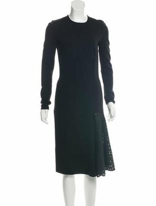 Stella McCartney Long Sleeve Midi Dress Black