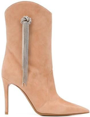 Alexandre Vauthier Wayne 120mm crystal-embellished boots