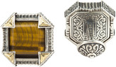 Konstantino Silver & 18K Gold Cuff Links with Sodalite
