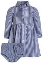 Polo Ralph Lauren STRIPE DRESSES BABY Day dress fall royal/white