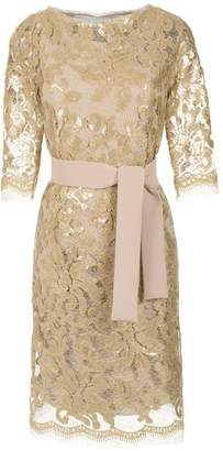 Gloria Coelho Sequin Lace Dress