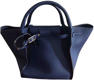 Celine Big Bag Blue Leather Handbags