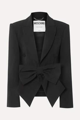 Moschino Bow-detailed Cady Blazer - Black