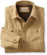 L.L. Bean Katahdin Iron Works Fleece-Lined Canvas Shirt