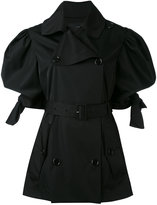 Simone Rocha belted trench coat - women - Cotton/Acetate/Polyimide - 6