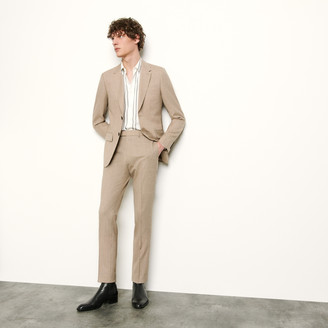 Micro checked suit pant
