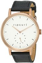 Rip Curl Women's 'Circa Bronze' Quartz Stainless Steel and Leather Sport Watch, Color:Black (Model: A2887G-BRO)